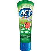 ACT Toothpaste, Anticavity Flouride, Wild Watermelon