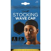 Titan Sport Du-Rags, Wave-Cap, Stocking, Black