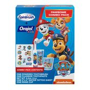 Orajel Spinbrush Kids +  Kids Pawsome Combo Pack, 1 Ct Powered Toothbrush And 1 Ct Anticavity Fluoride Toothpaste