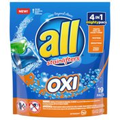 all Laundry Detergent Pacs, 4 in 1 with OXI
