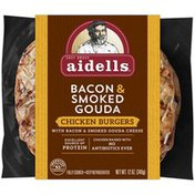 Aidells Chicken Burgers Bacon & Smoked Gouda