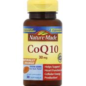 Nature Made CoQ10, 30 mg, Softgels, Naturally Orange