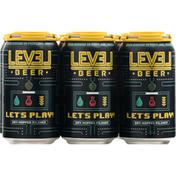 Level Beer, Dry-Hoped Pilsner, Lets Play!