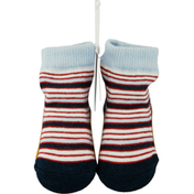 Mud Pie Baby Sock, Blue and Red Stripe