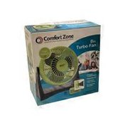 "Comfort Zone 8"" High Velocity Turbo Desk Fan"