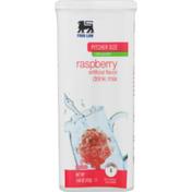 Food Lion Drink Mix, Raspberry, Pitcher Size, Low Calorie, Tub