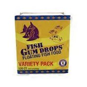 SF Bay Coffee Fish Gum Drops Floating Fish Food Variety Pack