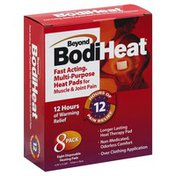 Beyond Bodi Heat Heat Pads, Disposable, Multi-Purpose, Fast Acting, 8 Pack