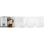 Amscan Wine Glasses, Stemless, Mini, 4.5 Fluid Ounce