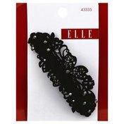 Elle Clip, Hair, Black w/Pearl, Card