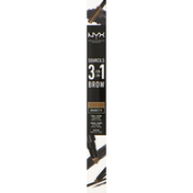 NYX Professional Makeup Brow Pencil, 3-in-1, Brunette 31B06