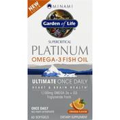 Garden of Life Fish Oil, Platinum, Orange Flavor, Softgels