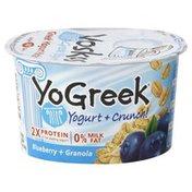 Voskos Yogurt, Greek, Blueberry + Granola, 0% Milk Fat