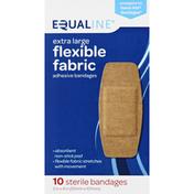 Equaline Adhesive Bandages, Flexible Fabric, Extra Large