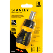 Stanley Stubby Ratcheting Screwdriver, 6 Pieces