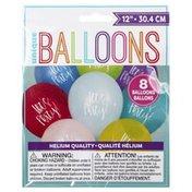 Unique Balloons, Let's Party, 12 Inch