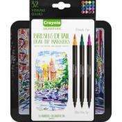 Crayola Dual-Tip Markers, Brush & Detail