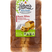 Nature's Promise Sandwich Bread, Artisan Style, Rustic White