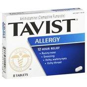 Tavist Allergy, 12 Hour Relief, Tablets