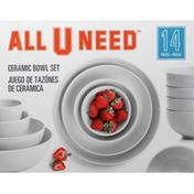 All U Need Bowl Set, Ceramic