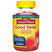 Nature Made Good Sleep Gummies - Melatonin 4mg + L-theanine 200mg - Dreamy Strawberry