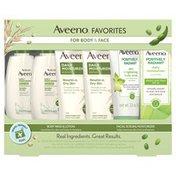 Aveeno Favorites For Body & Face Gift Set, Travel Sizes