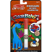 Melissa & Doug Coloring Pad, No-Mess, Dinosaurs, On The Go
