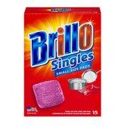 Brillo Singles Small Size Pads - 15 CT