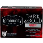 Community Coffee Dark & Bold Intense Blend Coffee Pods for Keurig K-cups