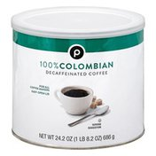 Publix Coffee, 100% Colombian, Decaffeinated