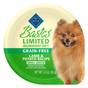 Blue Buffalo Basics Limited Ingredient Diet, Grain Free Natural Adult Small Breed Wet Dog Food Cup, Lamb