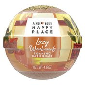 Find Your Happy Place Foaming Luxurious Bath Bomb, Sweet Almond And Vanilla Bean