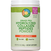 Full Circle Hydrolyzed Collagen Peptides Powder, Grass Fed, Unflavored