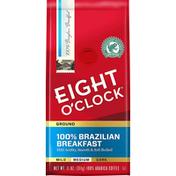 Eight O'Clock Coffee 100% Brazilian Breakfast Medium Ground Coffee