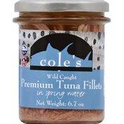 Cole's Tuna Fillets, in Spring Water, Premium, Wild Caught