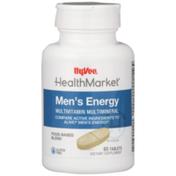 Hy-Vee Healthmarket, Men'S Energy Multivitamin Multimineral Food-Based Blend Dietary Supplement Tablets