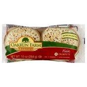 Oakrun Farm Bakery Crumpets, Plain