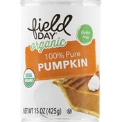 Field Day Pumpkin, Organic, 100% Pure
