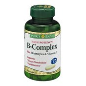 Nature's Bounty B-Complex Plus Electrolytes & Vitamin C Vitamin Supplement Tablets - 90 CT