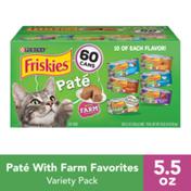 Purina Friskies Pate Wet Cat Food Variety Pack, Mainline Favorites