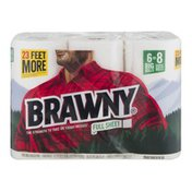 Brawny Paper Towels, Full Sheet, White, Big Rolls, 2-Ply
