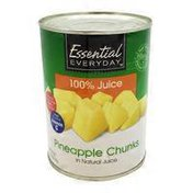 Essential Everyday Pineapple Chunks In 100% Juice