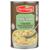 Our Family Chicken Broccoli Cheese With Potato Chunky Soup