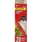 Southeastern Grocers Storage Bags, Slider, Quart