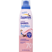 Coppertone Sunscreen, Foaming Lotion, Broad Spectrum SPF 70+