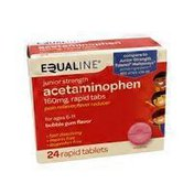 Equaline Children's Acetaminophen 160 Mg, Chewable Tablets Pain Reliever/fever Reducer, Bubble Gum