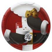 Party Creations Plates, Premium Strength, Santa Scenes, 8-3/4 inch
