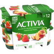 Activia Probiotic Blended Lowfat Yogurt Peach & Strawberry
