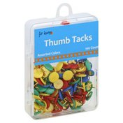 For Keeps Thumb Tacks, Assorted Colors
