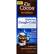 Dr. Cocoa Cough + Cold, Nighttime, for Children, Real Chocolate Taste